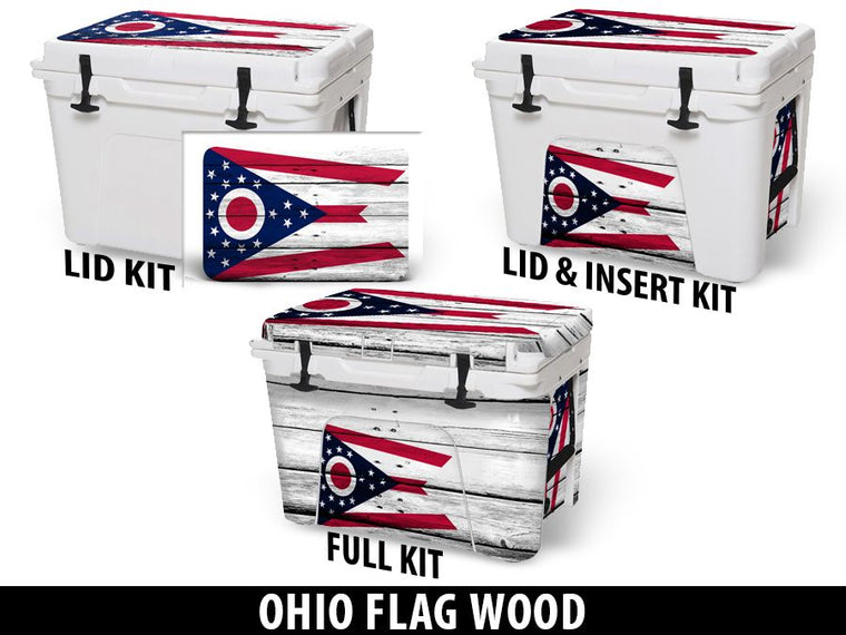 USATuff Cooler Accessories Ice Chest Graphic Sticker Decal Kits - Ohio