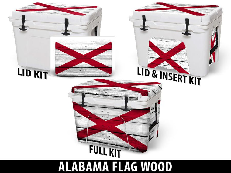 USATuff Cooler Accessories Ice Chest Graphic Sticker Decal Kits - Alabama