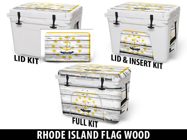USATuff Cooler Accessories Ice Chest Graphic Sticker Decal Kits - Rhode Island