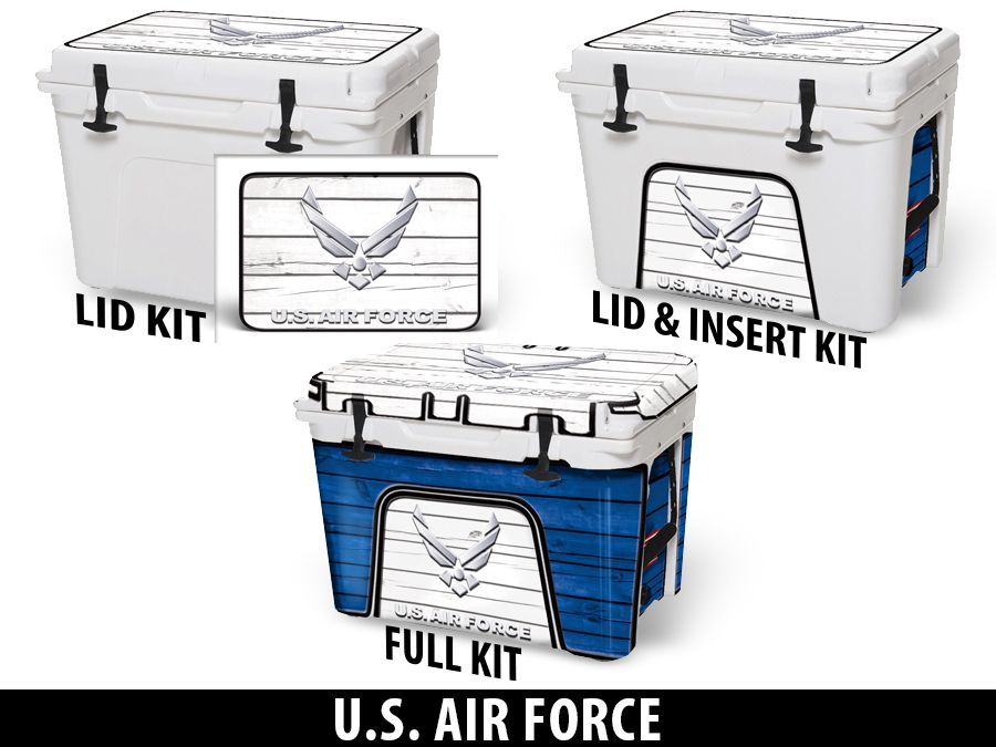 USATuff Cooler Accessories Ice Chest Graphic Sticker Decal Kits - US AIR FORCE