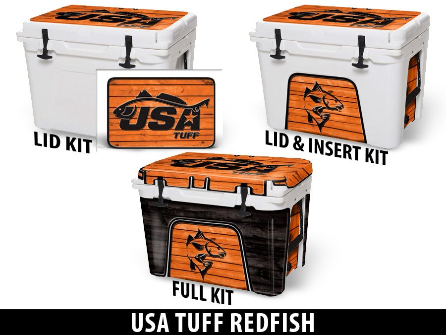 USATuff Cooler Accessories Ice Chest Graphic Sticker Decal Kits - USA Tuff Redfish