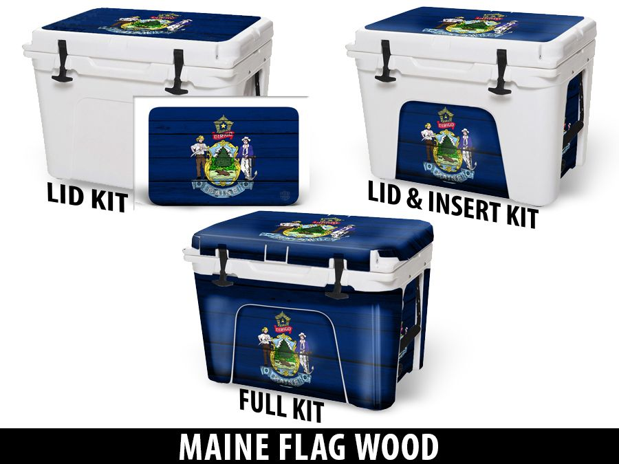 USATuff Cooler Accessories Ice Chest Graphic Sticker Decal Kits - Maine