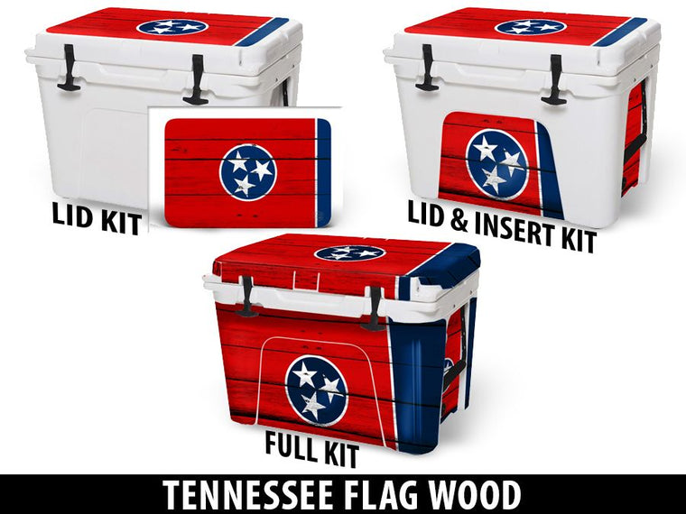 USATuff Cooler Accessories Ice Chest Graphic Sticker Decal Kits - Tennessee