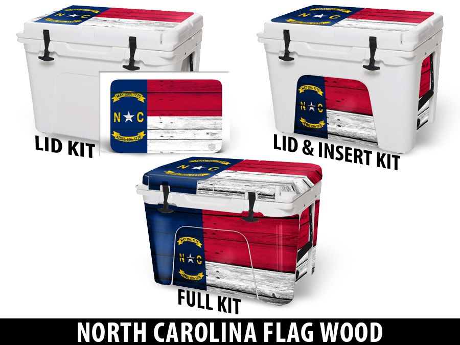 USATuff Cooler Accessories Ice Chest Graphic Sticker Decal Kits - North Carolina