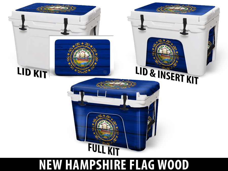 USATuff Cooler Accessories Ice Chest Graphic Sticker Decal Kits - New Hampshire