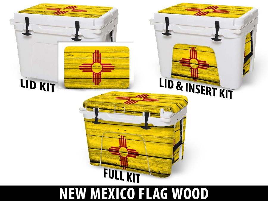 USATuff Cooler Accessories Ice Chest Graphic Sticker Decal Kits - New Mexico