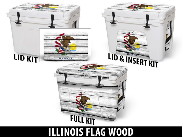 USATuff Cooler Accessories Ice Chest Graphic Sticker Decal Kits - Illinois