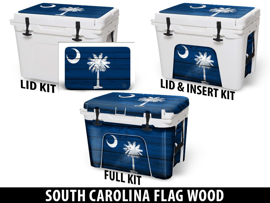 USATuff Cooler Accessories Ice Chest Graphic Sticker Decal Kits - South Carolina
