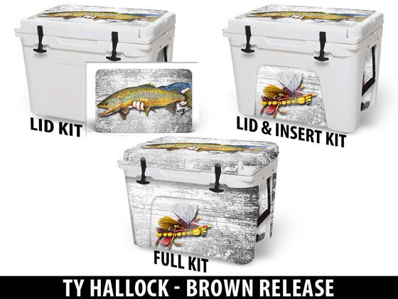 USATuff Cooler Accessories Ice Chest Graphic Sticker Decal Kits - Brown Release by Ty Hallock