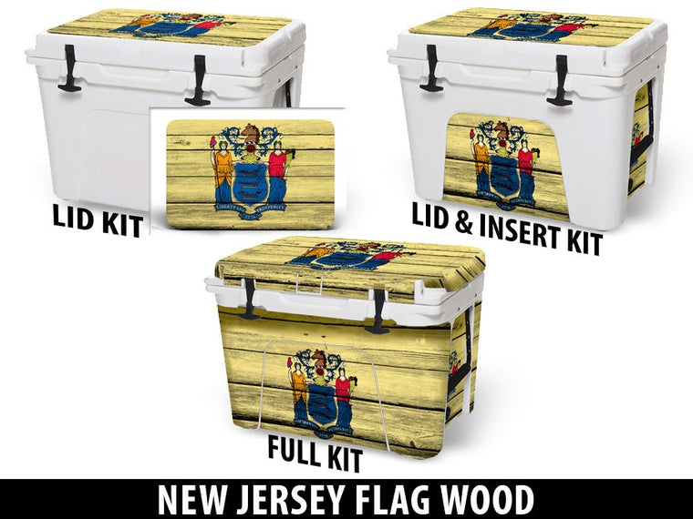 USATuff Cooler Accessories Ice Chest Graphic Sticker Decal Kits - New Jersey
