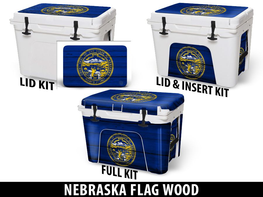 USATuff Cooler Accessories Ice Chest Graphic Sticker Decal Kits - Nebraska