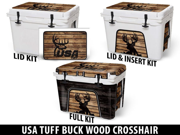 USATuff Cooler Accessories Ice Chest Graphic Sticker Decal Kits - USA Tuff Buck Wood Crosshair