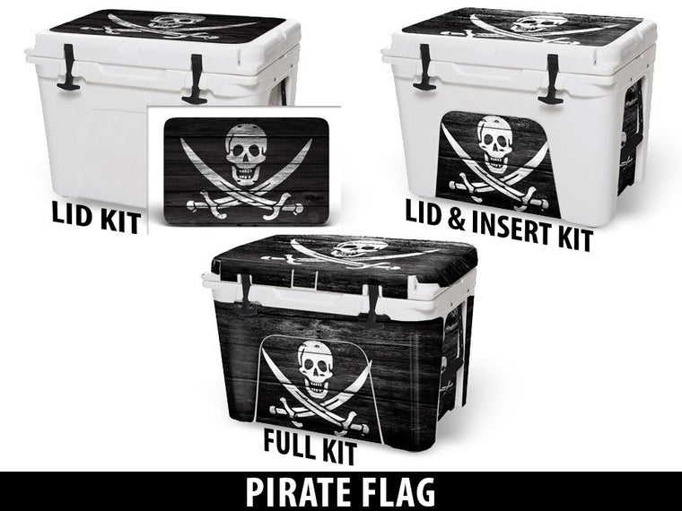 USATuff Cooler Accessories Ice Chest Graphic Sticker Decal Kits - Pirate Flag