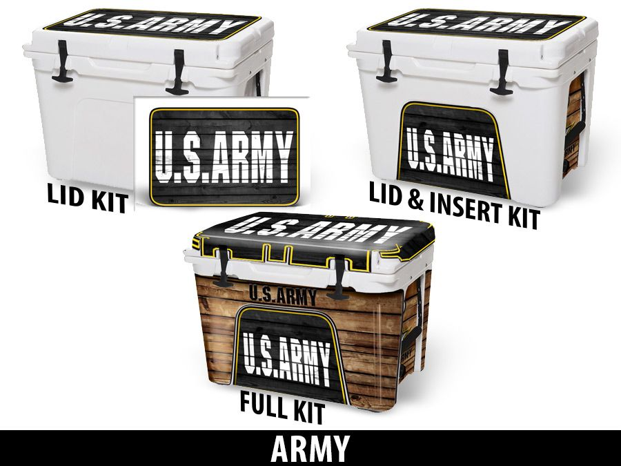 USATuff Cooler Accessories Ice Chest Graphic Sticker Decal Kits - Army