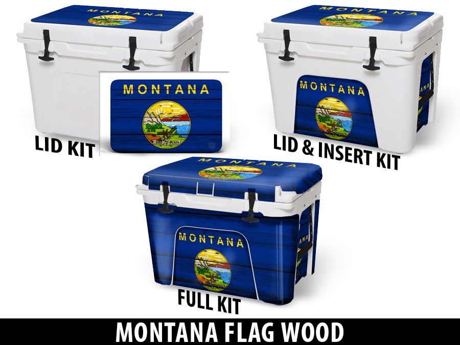 USATuff Cooler Accessories Ice Chest Graphic Sticker Decal Kits - Montana