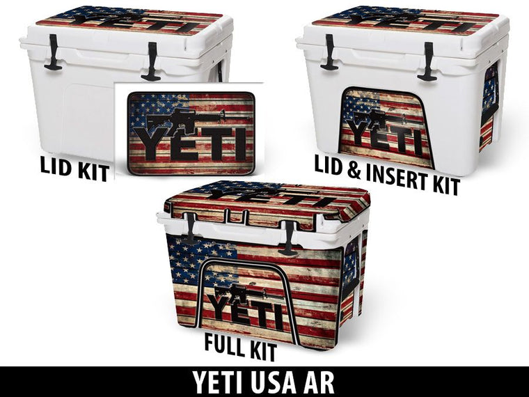 USATuff Cooler Accessories Ice Chest Graphic Sticker Decal Kits - USA AR