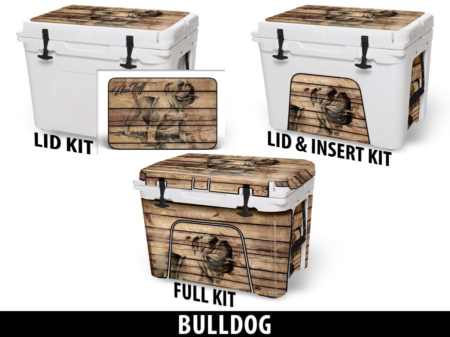 USATuff Cooler Accessories Ice Chest Graphic Sticker Decal Kits - Bulldog