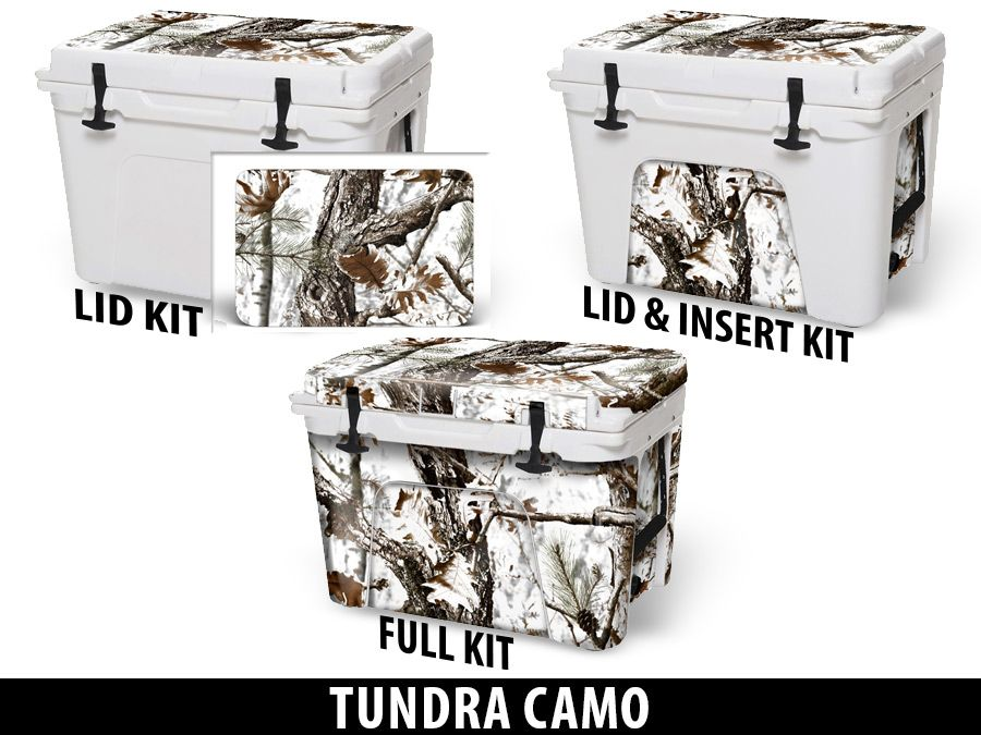 USATuff Cooler Accessories Ice Chest Graphic Sticker Decal Kits - Tundra Camo