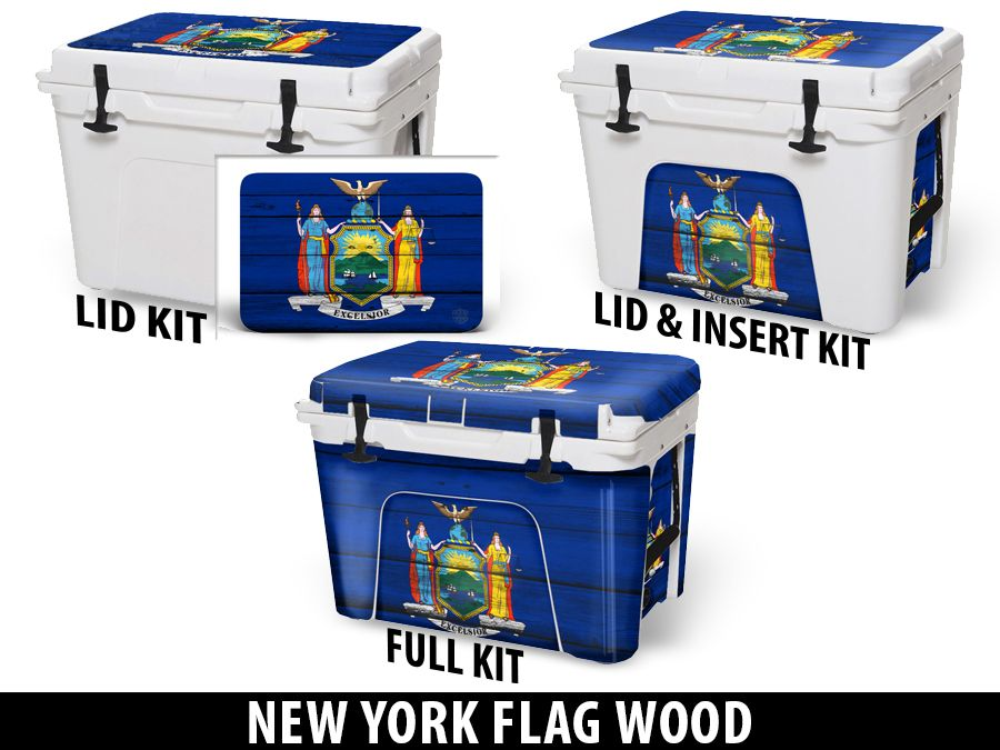 USATuff Cooler Accessories Ice Chest Graphic Sticker Decal Kits - New York