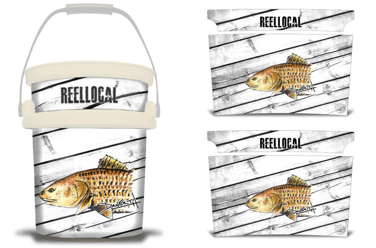 USATuff YETI Bucket Accessories Ice Bucket Graphic Sticker Decal Kits Redfish by David Danforth