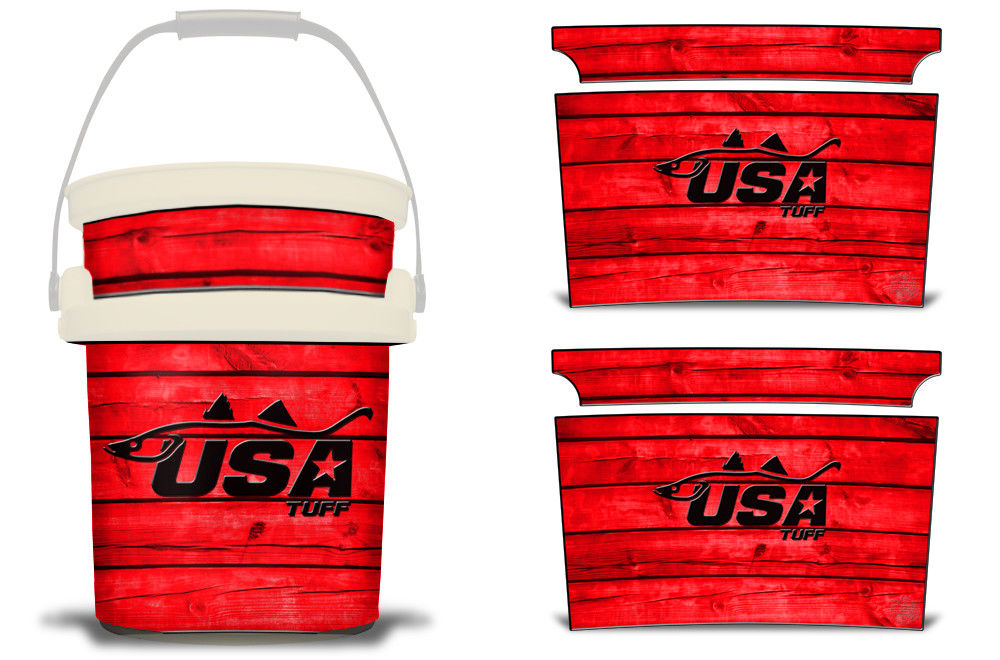 USATuff YETI Bucket Accessories Ice Bucket Graphic Sticker Decal Kits Snook Red