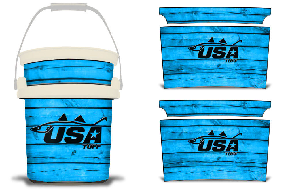 USATuff YETI Bucket Accessories Ice Bucket Graphic Sticker Decal Kits Snook Blue