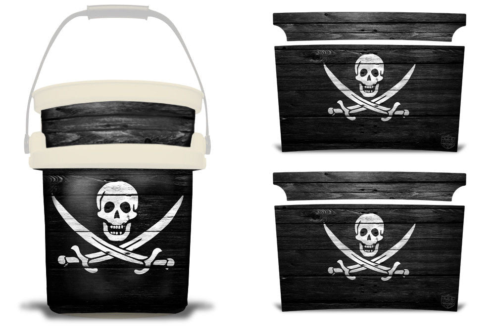 USATuff YETI Bucket Accessories Ice Bucket Graphic Sticker Decal Kits Pirate Flag