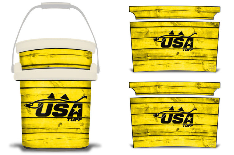 USATuff YETI Bucket Accessories Ice Bucket Graphic Sticker Decal Kits Snook Yellow