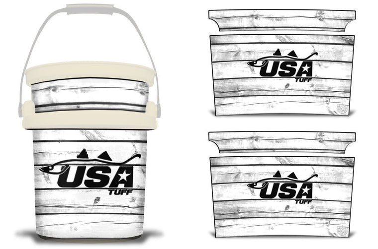 USATuff YETI Bucket Accessories Ice Bucket Graphic Sticker Decal Kits Snook White