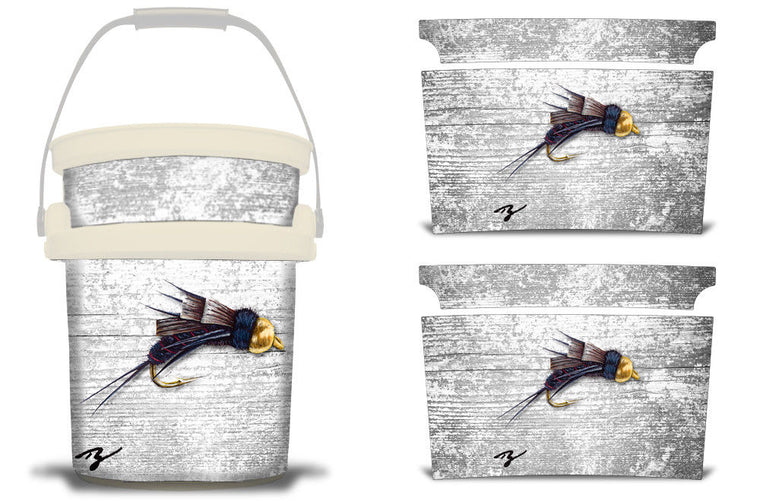 USATuff YETI Bucket Accessories Ice Bucket Graphic Sticker Decal Kits Ty Hallock Nymph