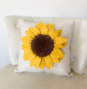 Decorative Sunflower Pillow