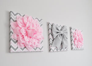 Light Pink and Gray Baby Girl Nursery Decor - Daisy Manor