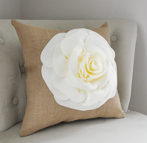 Decorative Pillow Burlap - Daisy Manor