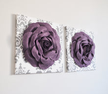 Load image into Gallery viewer, Sugar Plum Rose Wall Canvas Set of Two - Daisy Manor