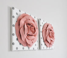 Load image into Gallery viewer, Blush Rose Flower Wall Decor Nursery Set of Two - Daisy Manor