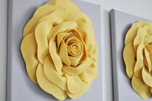 Load image into Gallery viewer, Mellow Yellow Rose Flower Wall Decor Set of Two - Daisy Manor