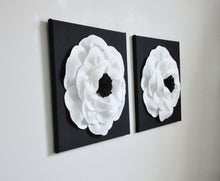 Load image into Gallery viewer, White and Black Poppy Wall Art Set of Two - Daisy Manor
