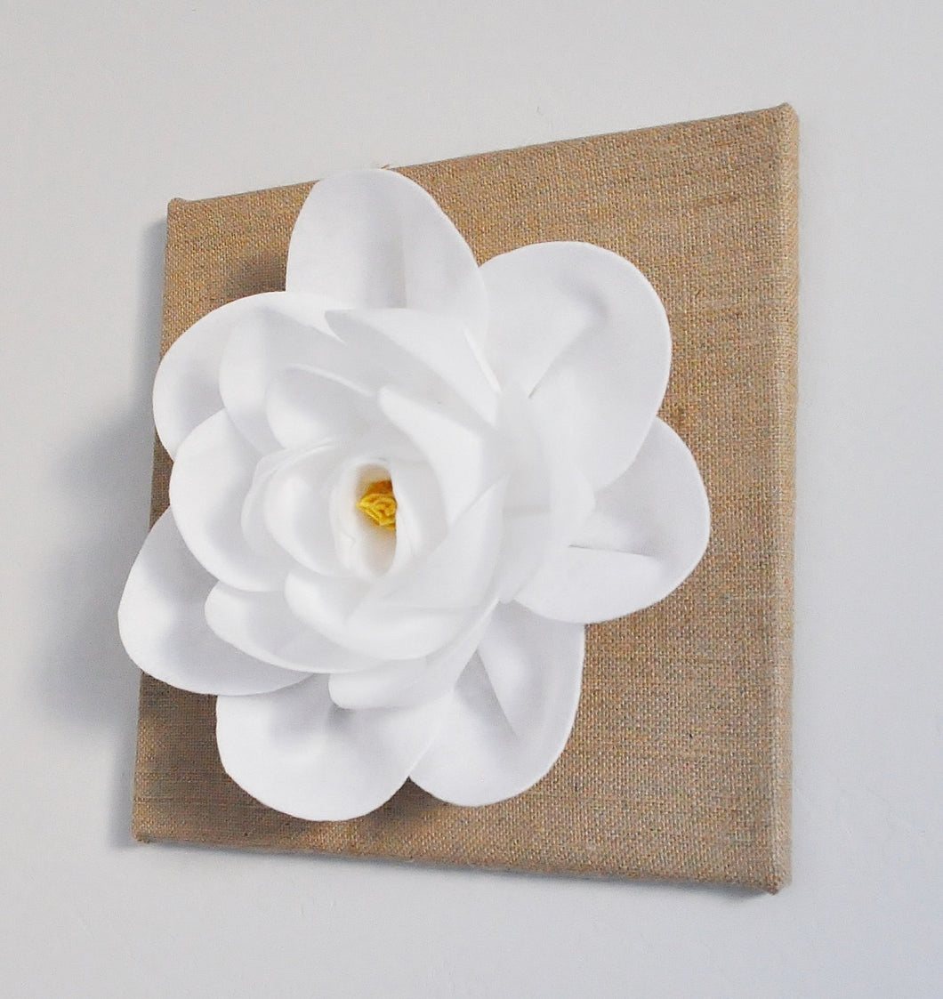 Magnolia flower on Burlap Canvas - Daisy Manor