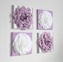 Load image into Gallery viewer, Lilac and White Nursery Wall Art - Daisy Manor