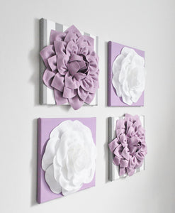 Lilac and White Nursery Wall Art - Daisy Manor