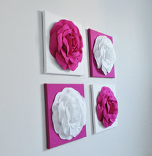 Load image into Gallery viewer, Wall Flowers Set of Four with Roses - Daisy Manor