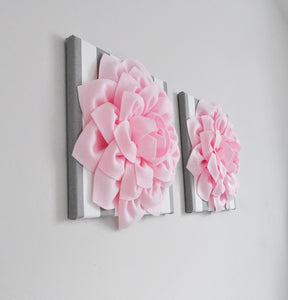 Pink and Gray Flower Wall Decor - Daisy Manor