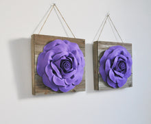 Load image into Gallery viewer, Dark Blush Roses on Reclaimed Wood Planks - Daisy Manor