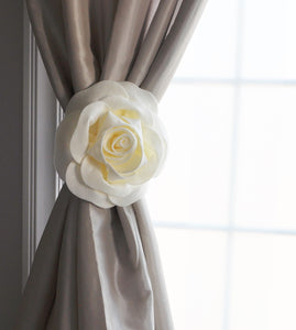 Ivory Rose Curtain Tie Back - Daisy Manor