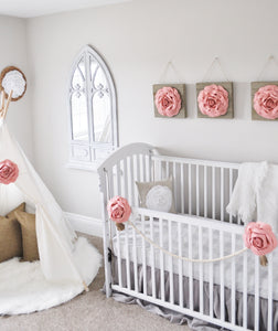 Blush Rose Baby Crib Accessories - Daisy Manor
