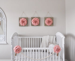 Blush Rose Wood Wall Decor Set - Daisy Manor