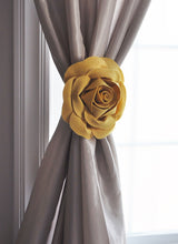 Load image into Gallery viewer, Mellow Yellow Rose Curtain Tieback - Daisy Manor