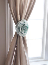 Load image into Gallery viewer, Light Blue Rose Curtain Tieback - Daisy Manor