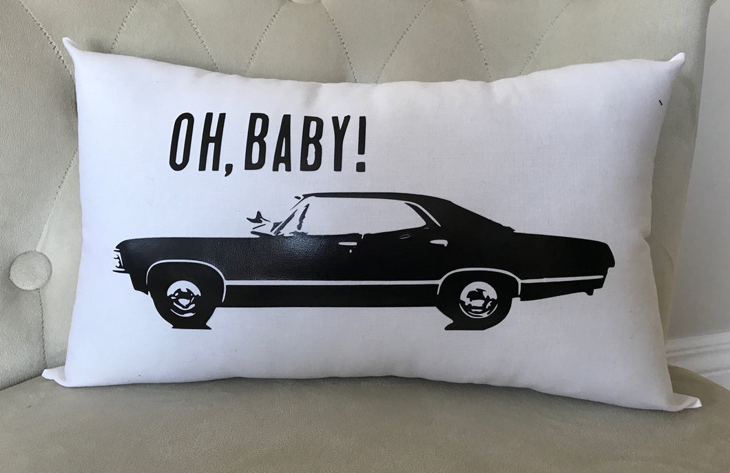 Oh Baby 1967 Impala 4 door Pillow - Daisy Manor