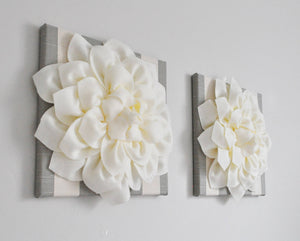 Neutral Floral Farmhouse Wall Decor Set of Two - Daisy Manor